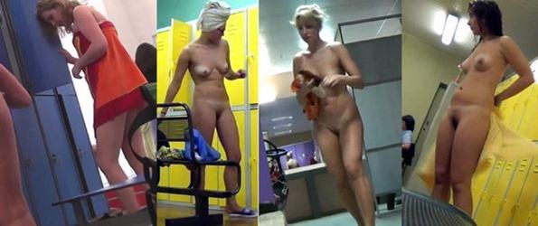 exposing their nude bodies